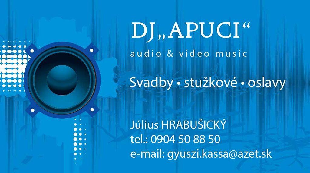 Vizitka DJ Apuci