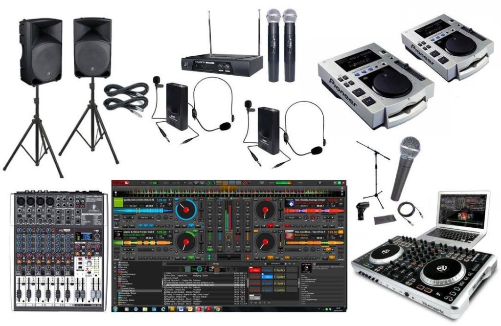 DJ retro aparat koláž